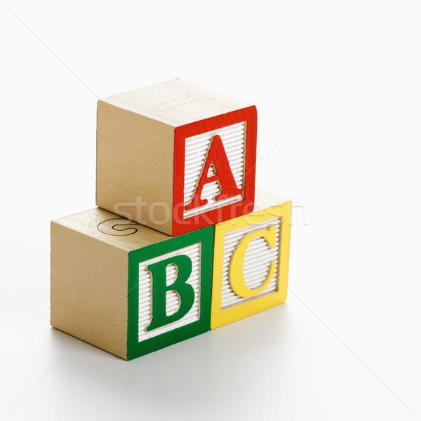 Toy ABC blocks. Stock photo © iofoto