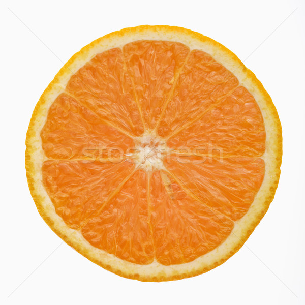Orange slice zijaanzicht witte voedsel kleur sinaasappelen Stockfoto © iofoto