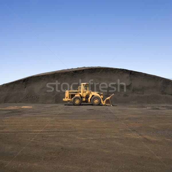 Bulldozer and dirt mound. Stock photo © iofoto