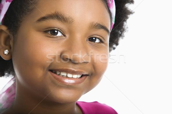 Smiling preteen girl. Stock photo © iofoto