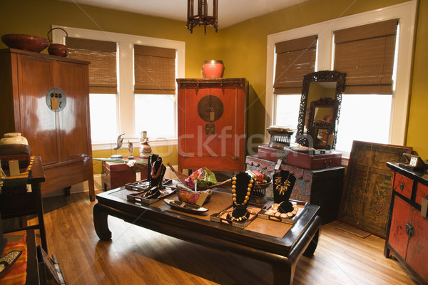 Perakende ev depolamak iç eklektik mobilya Stok fotoğraf © iofoto