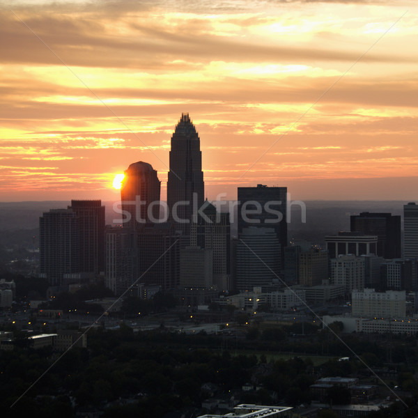 Charlotte, NC skyline. Stock photo © iofoto