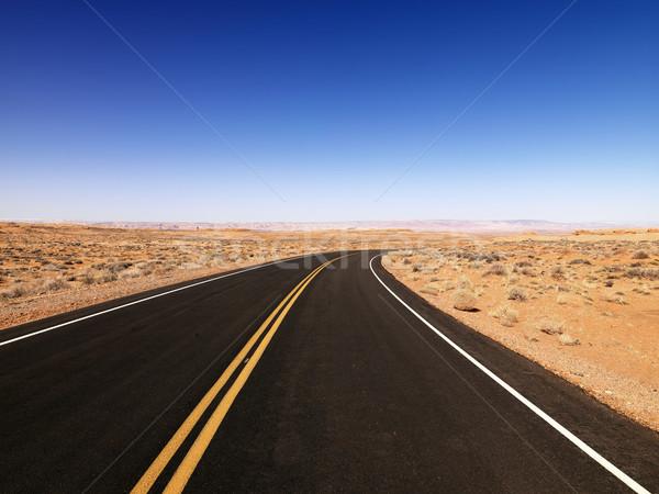 Landelijk Arizona schilderachtig landschap woestijn snelweg Stockfoto © iofoto