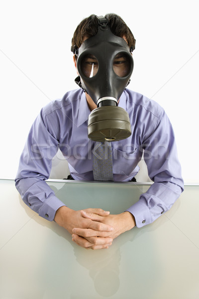 Man wearing gas mask. Stock photo © iofoto