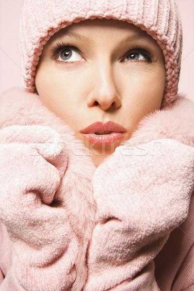 Attractive woman portrait. Stock photo © iofoto