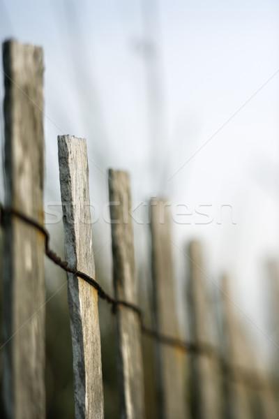 Wooden beach fence. Stock photo © iofoto
