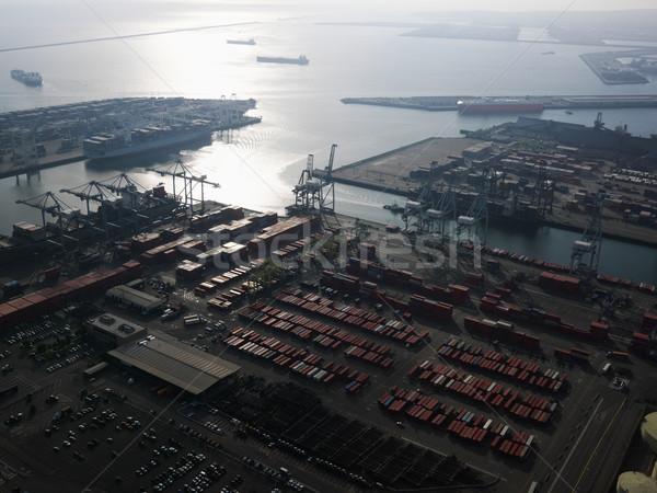 Aerial of shipping dock. Stock photo © iofoto