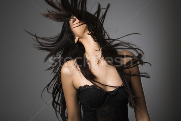 Woman with long hair. Stock photo © iofoto