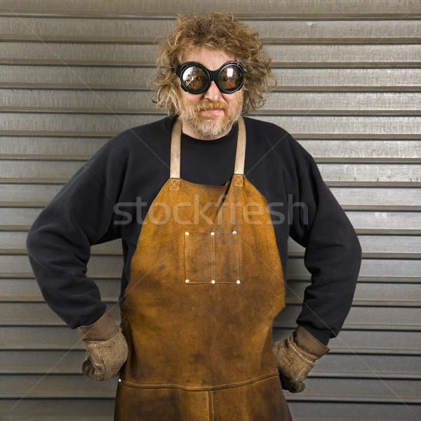 Porträt männlich Männer Person Platz Stock foto © iofoto