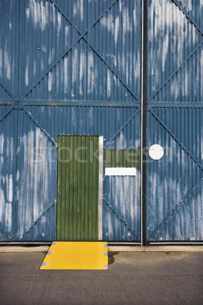 Building with metal siding. Stock photo © iofoto