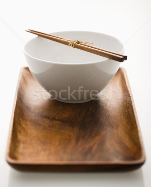 азиатских чаши лоток палочки для еды столовой Сток-фото © iofoto