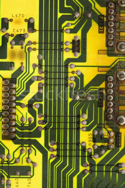 Circuit détail science couleur données matériel Photo stock © iofoto