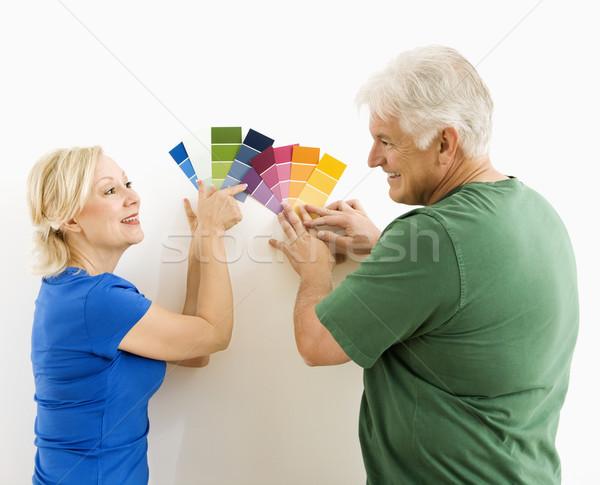 Homme femme regarder couple Photo stock © iofoto