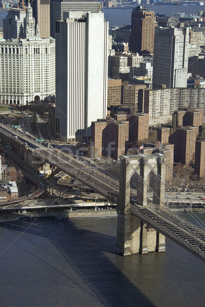 Brooklyn Bridge, NYC. Stock photo © iofoto