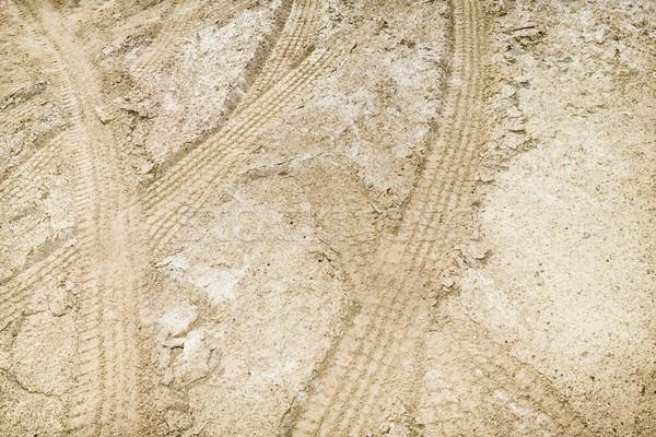 Pneumatico sporco texture strada sfondo percorso Foto d'archivio © iofoto