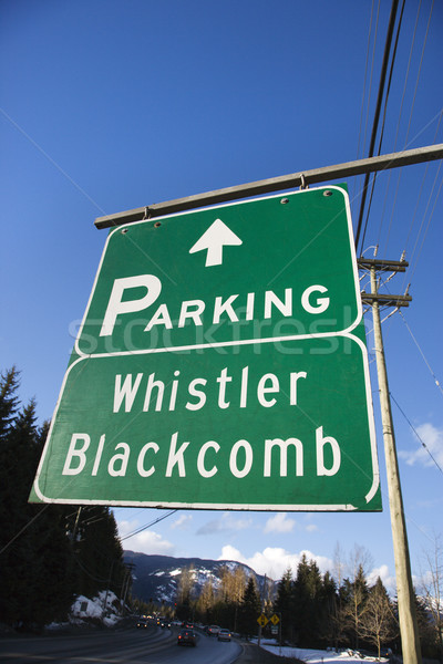 Signs for Whistler Blackcomb. Stock photo © iofoto