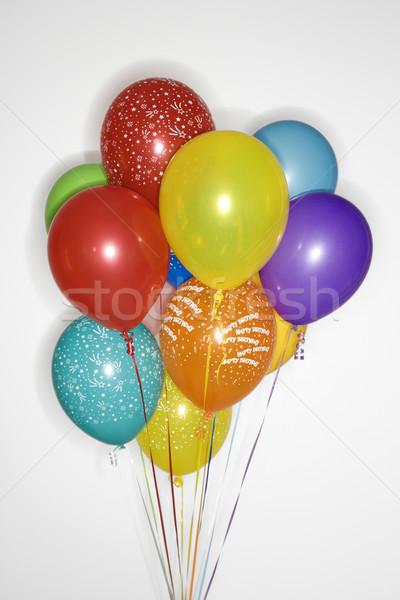 Ballons hélium couleur Photo stock © iofoto
