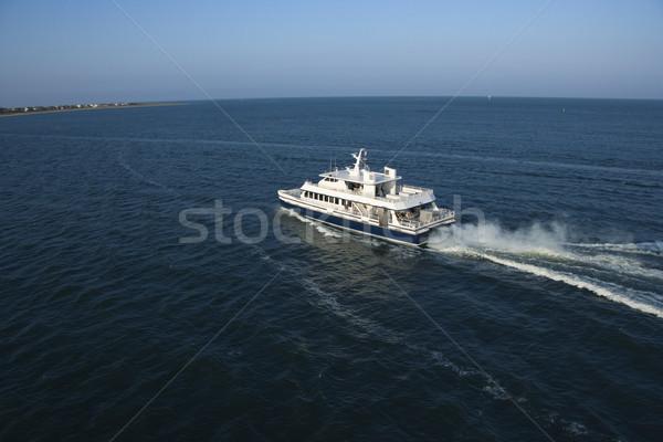 Balsa barco abrir água careca Foto stock © iofoto