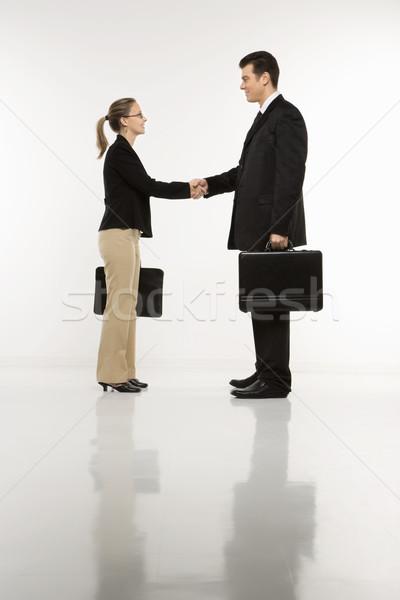 Businesspeople shaking hands. Stock photo © iofoto