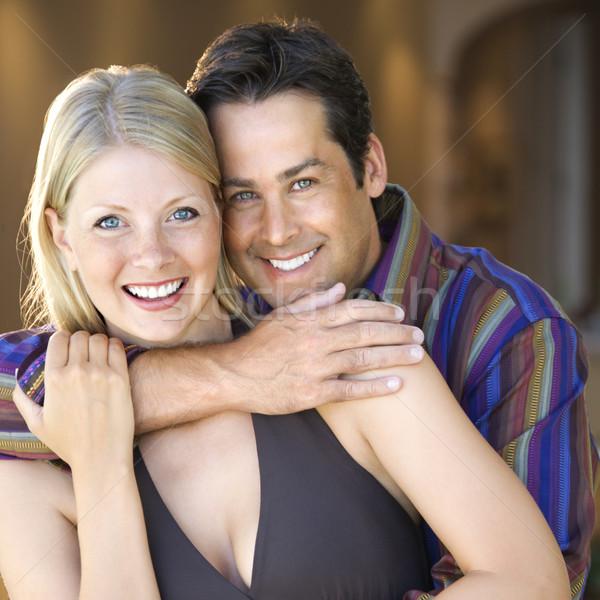 Caucasiano casal sorridente adulto homem Foto stock © iofoto