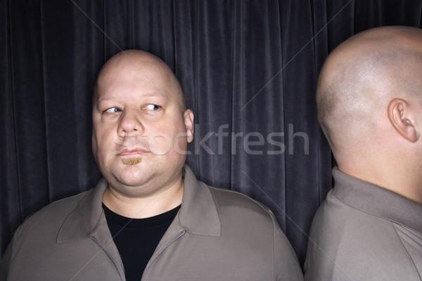 Kopasz iker férfiak kaukázusi felnőtt férfi Stock fotó © iofoto