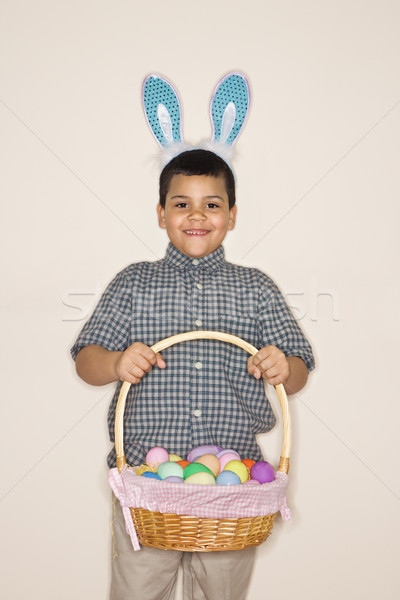 Boy celebrating Easter. Stock photo © iofoto