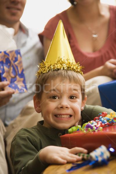 Boy at birthday party. Stock photo © iofoto