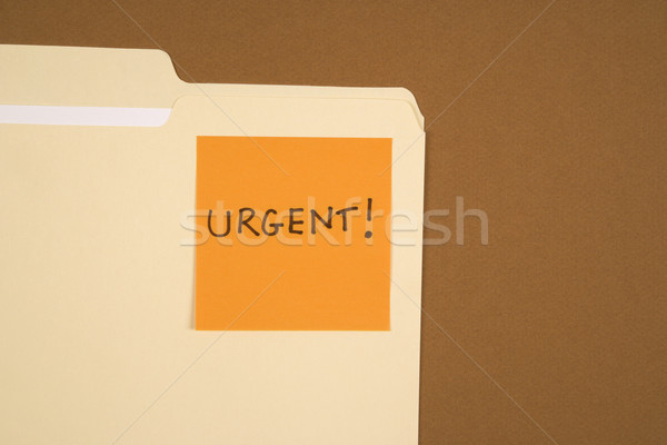 Urgent sticky note map oranje bevestigd lezing Stockfoto © iofoto