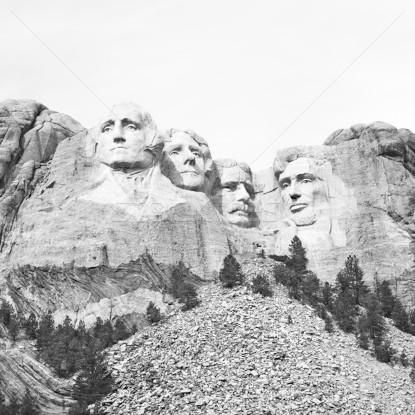 Mount Rushmore preto e branco South Dakota montanha homens retrato Foto stock © iofoto