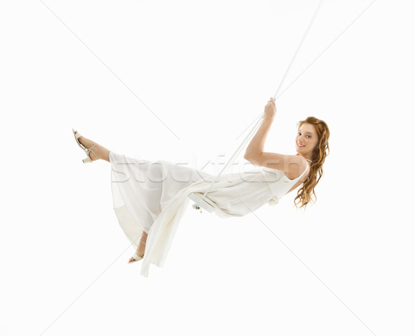 Sposa swing set guardando donna Foto d'archivio © iofoto