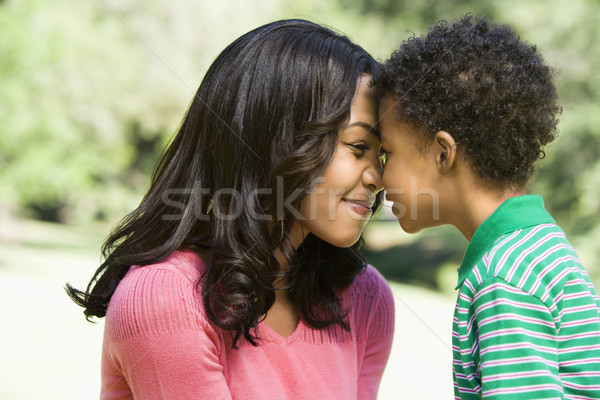 Mother and son nuzzling. Stock photo © iofoto