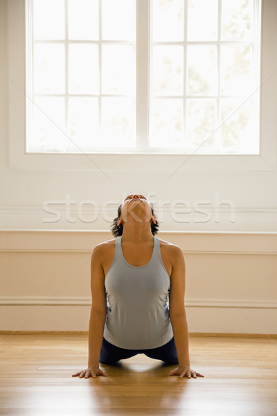 Yoga woman Stock photo © iofoto