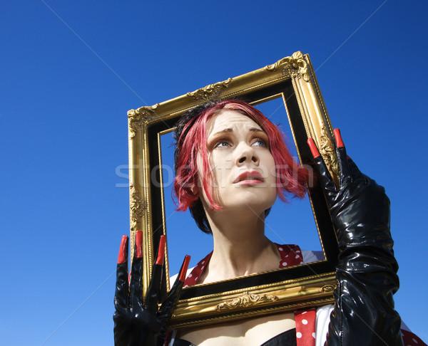 Funky donna femminile Foto d'archivio © iofoto