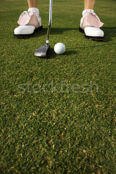 Golfer Putting Stock photo © iofoto