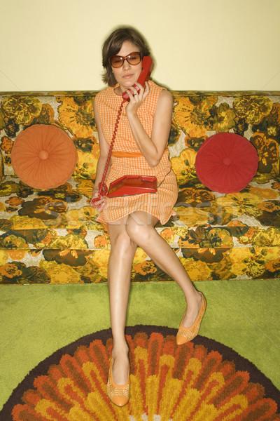 Retro woman. Stock photo © iofoto