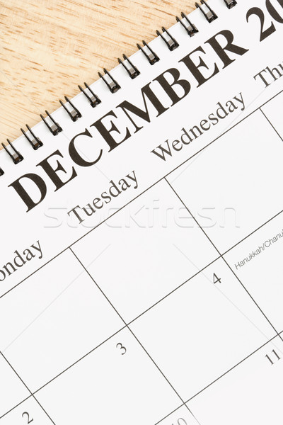December kalender spiraal maand business Stockfoto © iofoto