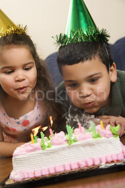 Kids having birthday party. Stock photo © iofoto