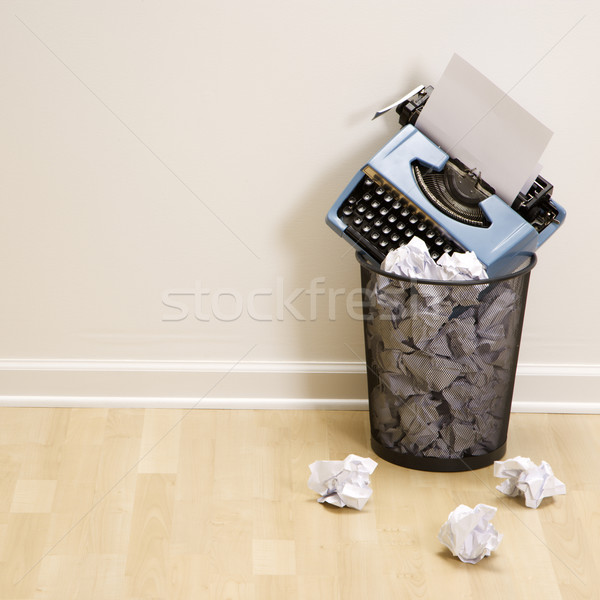 Stock photo: Typewriter in trash can.