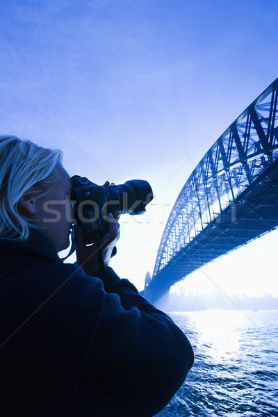 Mannelijke teen brug kaukasisch Stockfoto © iofoto
