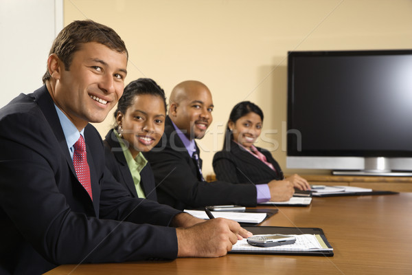 幸せ 営業会議 座って 会議 表 ストックフォト © iofoto