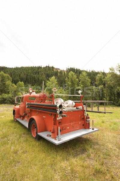 Red fire truck. Stock photo © iofoto