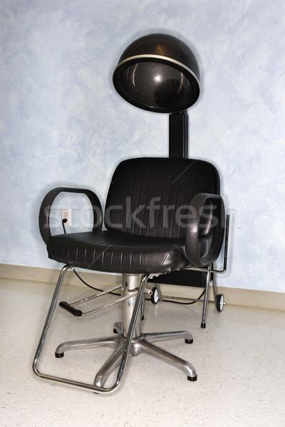 Asciugacapelli sedia salone vuota verticale shot Foto d'archivio © iofoto