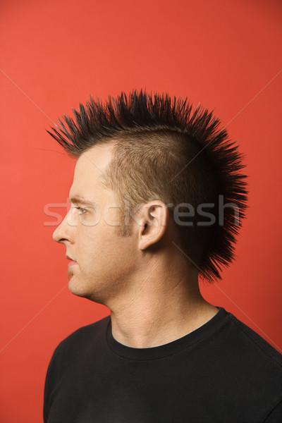 Man with mohawk. Stock photo © iofoto