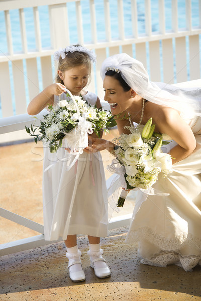 Bride and flowergirl. Stock photo © iofoto