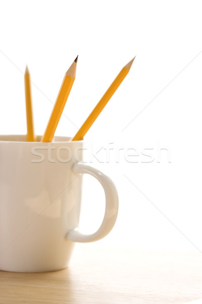 Pencils in coffee cup. Stock photo © iofoto