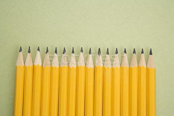 Pencils in even row. Stock photo © iofoto