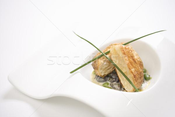 Escargot and croute bread. Stock photo © iofoto