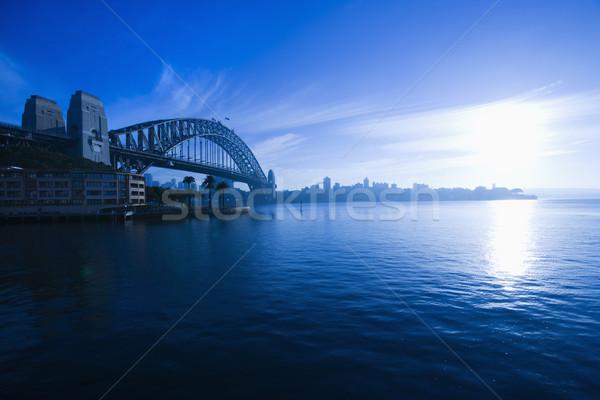 Sydney port Australie vue pont Photo stock © iofoto