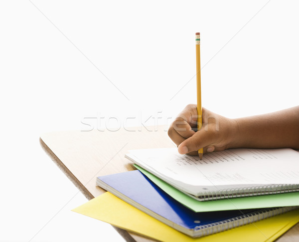 Child doing schoolwork. Stock photo © iofoto