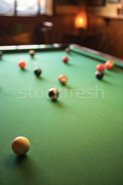 Biliardo verde biliardo tavola piscina Foto d'archivio © iofoto